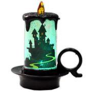 Luminária Vela Halloween com LED - modelo 3