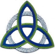 Triquetra Azul e Verde