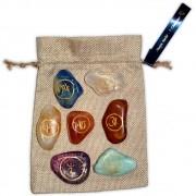 Pedras Símbolo dos 7 Chakras