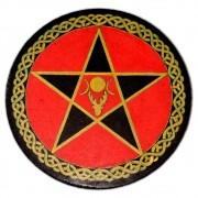 Pentáculo 15cm vermelho - Deusa e Deus
