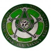 Pentáculo 20cm verde - Lei Wicca