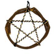 Pentagrama de Bambu e Junco com Ágata de Fogo