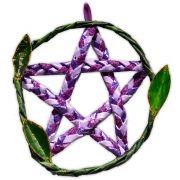 Pentagrama de Porta - Lilás e Violeta