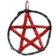 Pentagrama de Porta - Vermelho e Preto