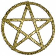 Pentagrama Grande dourado