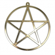 Pentagrama Grande - Dourado mod. 2