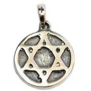 Pingente de Prata de Lei (prata 950) - Hexagrama mod.1