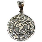 Pingente de Prata de Lei (prata 950) - Mandala Olho de Hórus