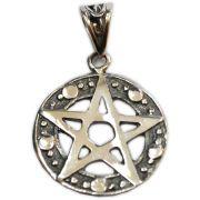 Pingente de Prata de Lei (prata 950) - Pentagrama mod.1