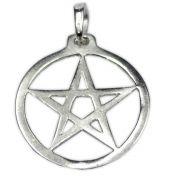 Pingente de Prata de Lei (prata 950) - Pentagrama mod.3