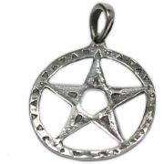 Pingente de Prata de Lei (prata 950) - Pentagrama mod.5