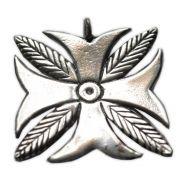 Pingente em Bronze Banhado a Prata - Cruz de Tane