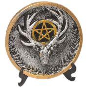 Plaquinha para Altar Deus - prateado e dourado