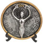 Plaquinha para Altar Deusa - prateada e dourada