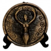 Plaquinha para Altar Deusa dourada