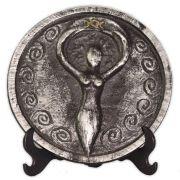 Plaquinha para Altar Deusa - prateada