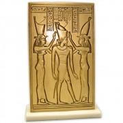 Réplica Museu Egípcio Curitiba - Uadjit e Nekhebet com Ptolomeu IV