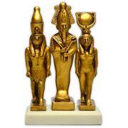 Réplica Museu Egípcio Curitiba - Tríade Divina Osíris, Ísis e Hórus