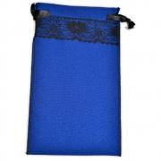 Saquinho para Tarô -  Azul com Renda