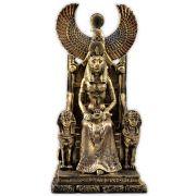 Sekhmet no Trono, Deusa do Fogo e do Equilíbrio entre os Poderes - Dourado