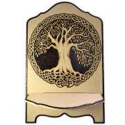 Suporte para Livro em Madeira - Árvore da Vida