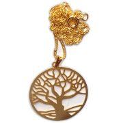 Talismã Colar Árvore da Vida, Criação e Imortalidade - Dourado