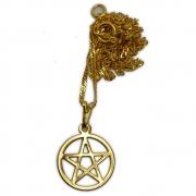 Talismã Colar Pentagrama - Dourado Pequeno mod. 2