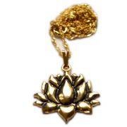 Talismã Colar Flor de Lótus - Dourado