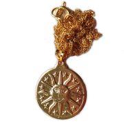 Talismã Mandala Sol - Dourado
