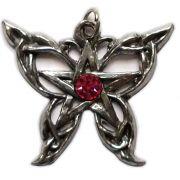Talismã Wicca Pentagrama - Borboleta Swarovski, Amuleto de Proteção