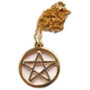 Talismã Pentagrama - Dourado e Prateado Grande
