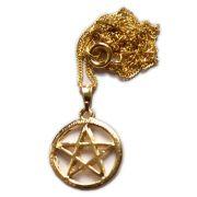 Talismã Colar Pentagrama - Dourado Pequeno