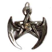 Talismã Wicca Pentagrama - Gótico Swarovski, Amuleto de Proteção