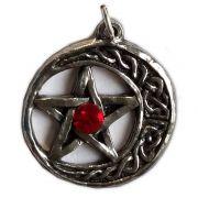 Talismã Wicca Pentagrama - Lua Celta Swarovski, Amuleto de Proteção