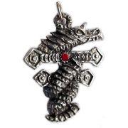 Talismã Pingente - Dragão na Cruz