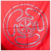 Toalha de Altar - Roda de Hécate Vermelha