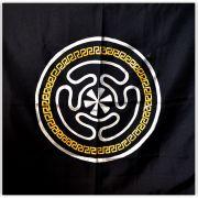 Toalha de Altar - Roda de Hécate Dourado