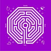 Toalha Labirinto - Roxa