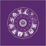 Toalha Mandala Astrológica Yggdrasil - Roxa