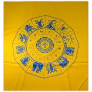 Toalha Mandala Astrológica Yggdrasil - Amarela
