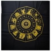 Toalha Mandala Astrológica Yggdrasil - Dourado