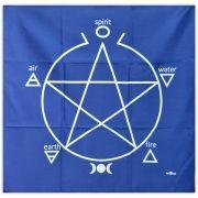 Toalha para Altar e Tarô - Azul