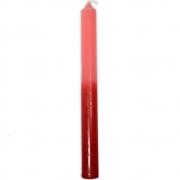 Vela Palito Bicolor - Vermelho e Rosa