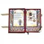 Book Of Shadows Encadernação Medieval 400pg. sem pauta - Pentagrama modelo 4
