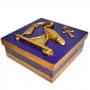 Caixa Egípcia Grande Azul - Deus Thoth