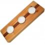 Castiçal  de madeira - 3 velas rechout