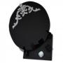 Espelho Negro com Base - Turmalina Negra e Opalina