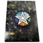 Grimório 200pg sem pauta grande - Pentagrama 5 elementos