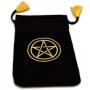 Mini Saquinho Tarot Pentagrama - Preto