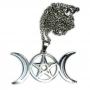 Talismã Colar Triluna - Chapeado a Prata